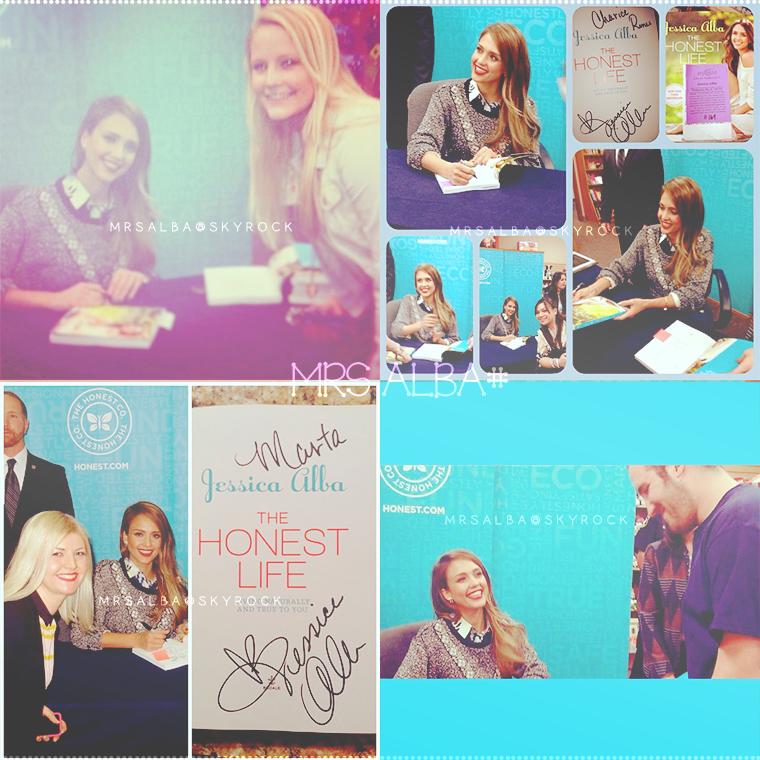 Jessica Alba dédicaçant son livre, The Honest Life #JessicaAlba #People #Fashion #TheHonestLife @JessicaAlba