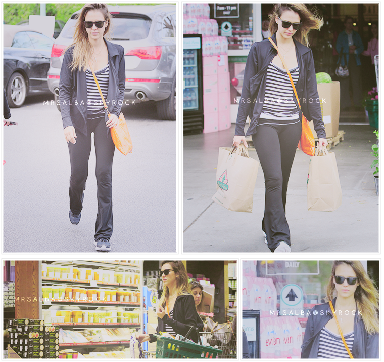 Jessica Alba allant faire des courses à Whole Foods #JessicaAlba #People #Fashion