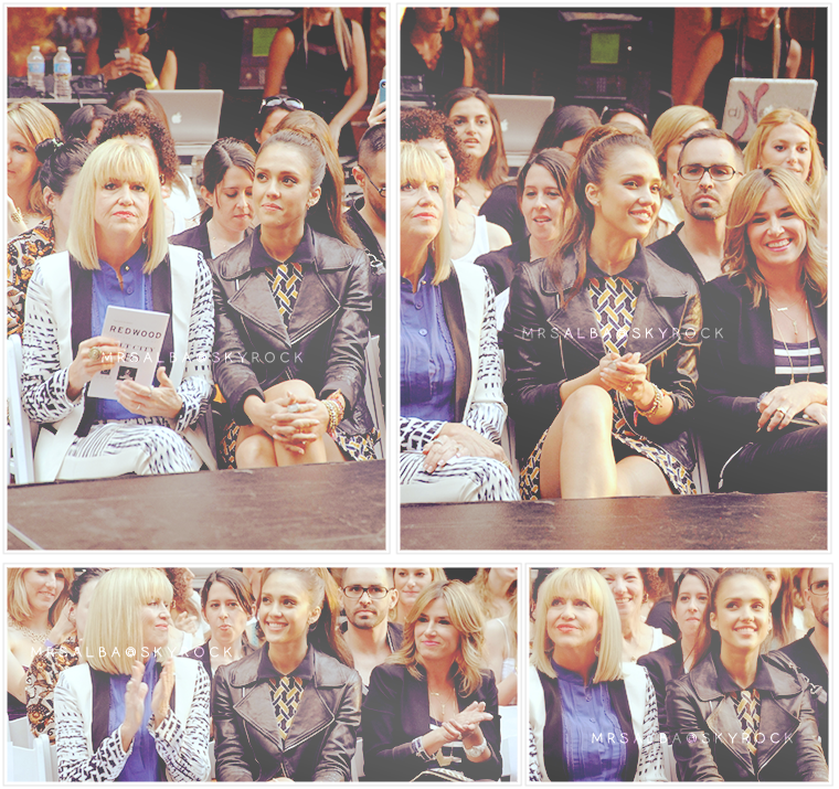 Jessica Alba et sa maman à un défilé de mode #JessicaAlba #People #Fashion