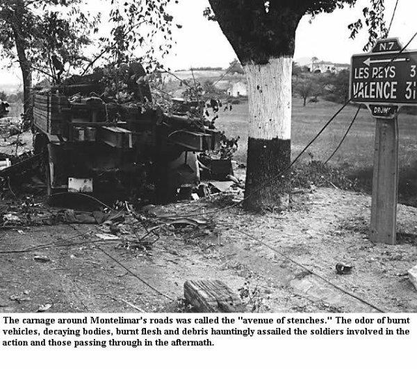 Bataille de Montélimar ... Aout 1944 - RN7, la route de mort !