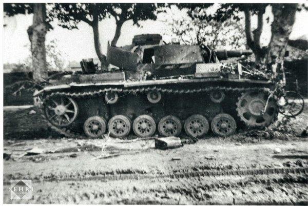 La Bataille de Méximieux ... Aout 1944; un Pz III au tapis
