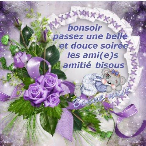 NOUS VOUS  SOUHAITONS UNE BONNE SOIREE UN BON WEEK END A TOUS     ET MERCI A MON AMIE COEUR 445