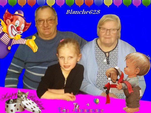 MERCI MON AMIE BLANCHE 628 ET DANNY ET PERROQUET 55  ET MARICOUH