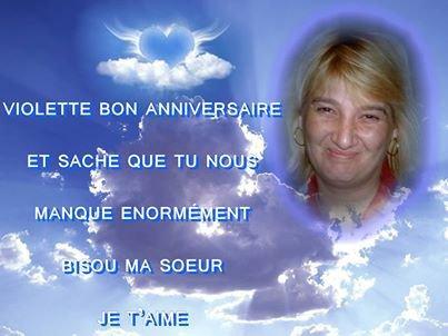 UNE PENSEE A NOTRE FILLE VIOLETTE QUI AURAIT EU SON ANNIVERSAIRE DEMAIN     ET UN PETIT MONTAGE DE MON FILS   decedee  le 03 09 2008