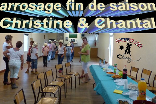 Arrosage fin d'année aux cours de Chantal et Christine
