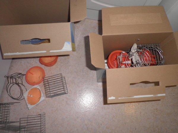 Préparation des nids et boules de charpie