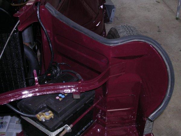 Remontage carrosserie avant.
