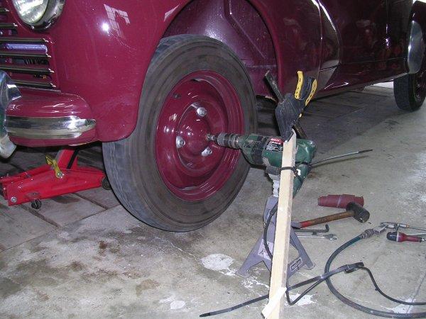 Rectification des tambours de frein façon autonome.