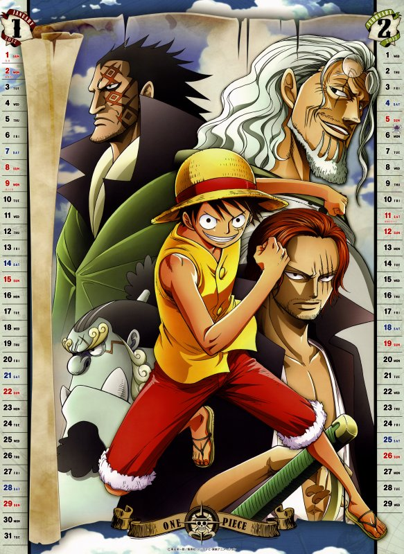 One Piece Calendrier 2012