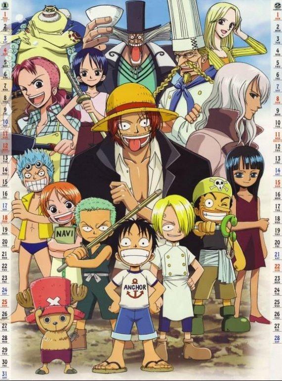 One Piece les Mugiwaras enfant