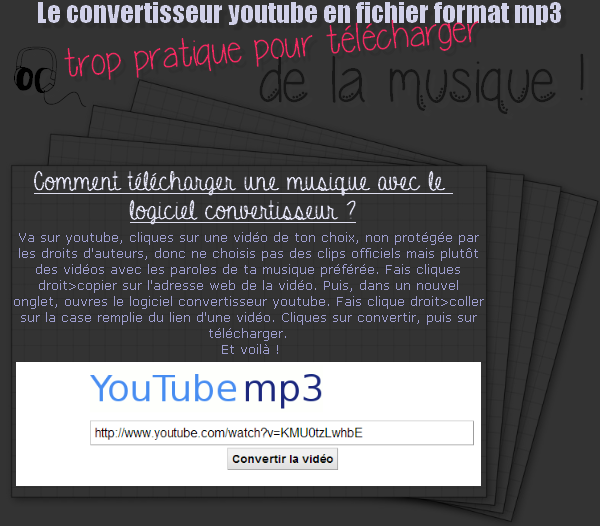 Le convertisseur youtube en format mp3 !