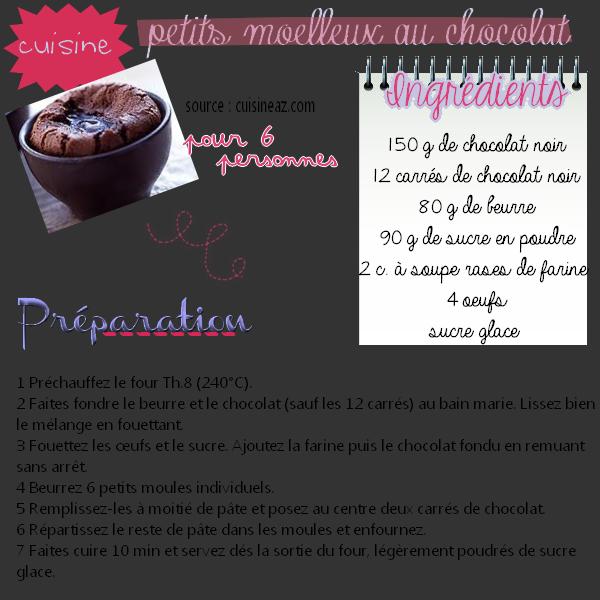 #15 cuisine : moelleux au chocolat !