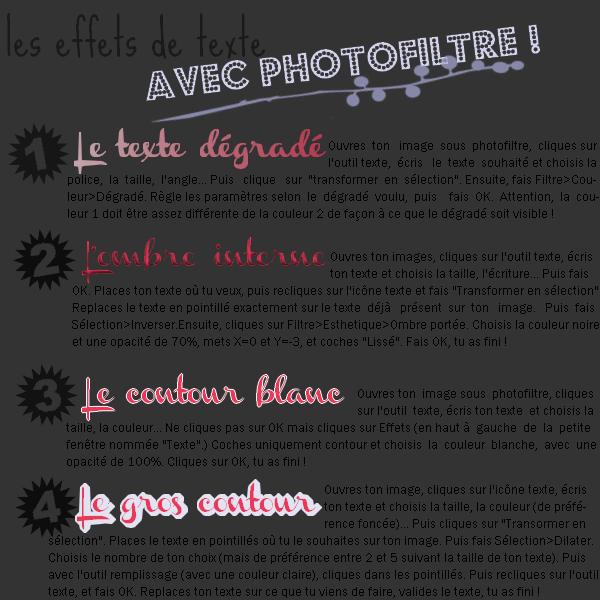 #25 - Les effets de texte avec photofiltre !
