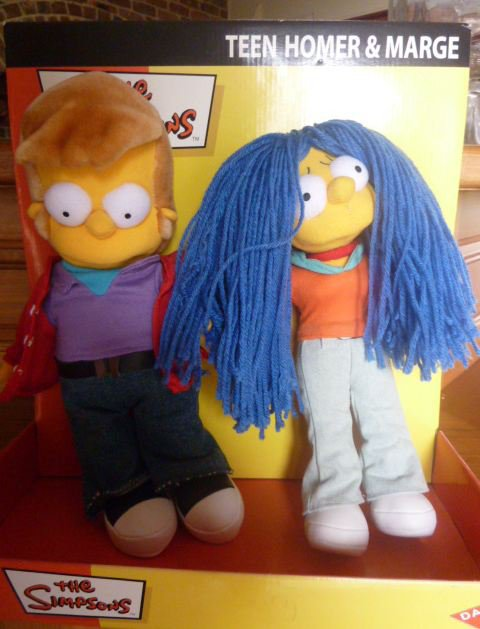Peluches Homer et Marge jeunes