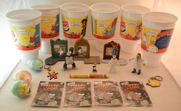 Gobelet et jouets Burger King 2002