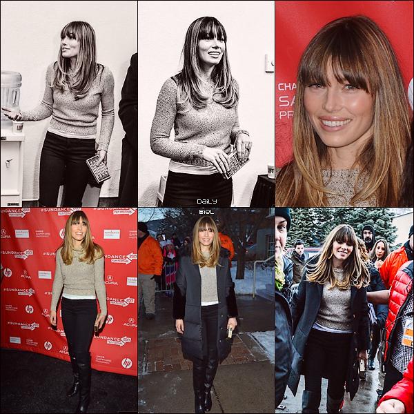 Toujours le 18/01 : Jessica et le cast de EATTAF étaient présents à la première du film au Sundance Film Festival 2013J'aime beaucoup son pull et ces bottes avec un jean's c'est vraiment superbe, elle est naturelle et simple mais tellement élégante! C'est un TOP.