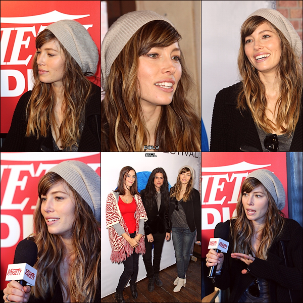 Le 19/01 : Jessica et (toujours) le cast de EATTAF étaient en conférence de presse au Variety Studio, Sundance Film Festival 2013  Jess est rayonnante de bonheur. J'aime beaucoup quand elle porte un bonnet décidément, j'adhère vraiment! Elle a un joli top et un joli manteau, j'aime aussi bien ces bottines. Je lui accorde un TOP.