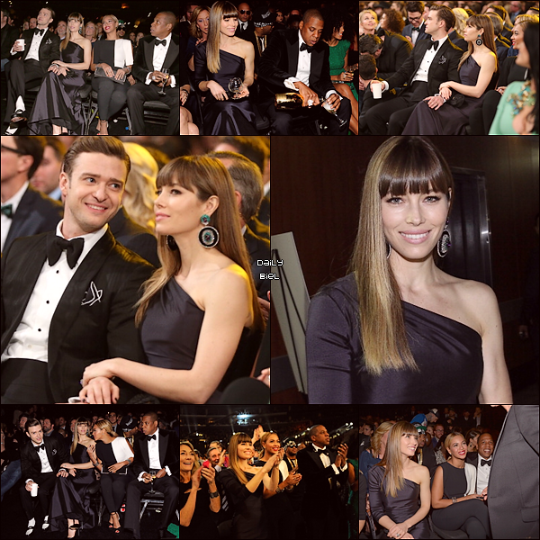 Le 11/02 : Jessica était présente à la 55° cérémonie des Grammy Awards Elle a accompagnée Justin qui a performé lors de la cérémonie et été assise à cotés de Jay-Z et Beyoncé  Jessy porte une magnifique robe, j'adhère totalement à ce style de robe finalement car elle est sans voilage ni rien, simple et efficace. Elle a un make up magnifique et des cheveux super bien lissés. Je lui accorde un énorme TOP. Elle est tellement épanouie avec son mari.