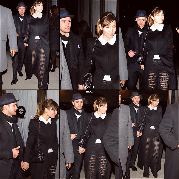 """Le 14/03 : Jessica et Justin ont été aperçu arrivant à l'anniversaire de Timbaland qui était organisée au restaurant """"Southern Hospitality"""" à New York"""