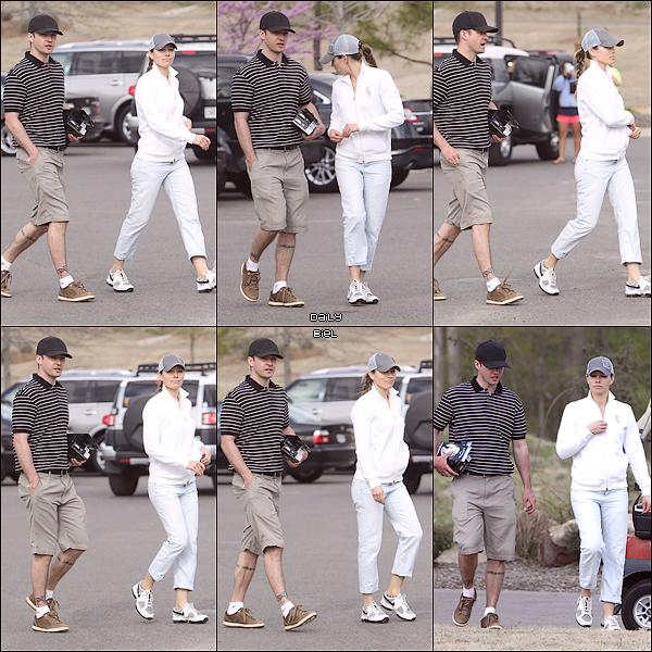 Le 14/04 : Jessica a été aperçue, avec Justin se rendant à une partie de Golf, à Memphis