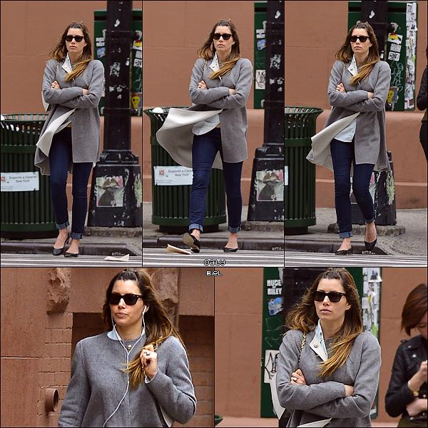 Le 19/04 : Jessica a été aperçue dans les rues de New York
