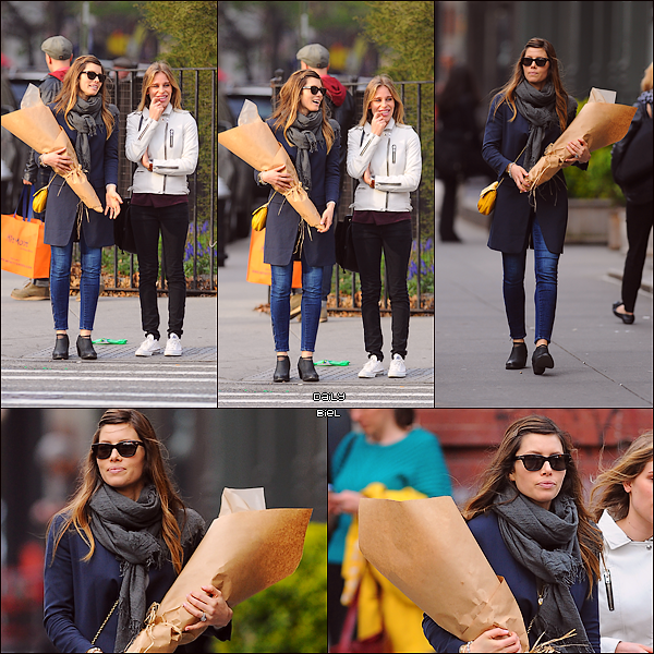 Le 24/04 : Jessica a été aperçue, avec une amie, dans les rues de New York