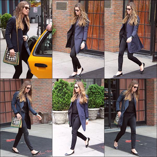 Le 06/05 : Jessica a été aperçue dans New York à plusieurs reprises