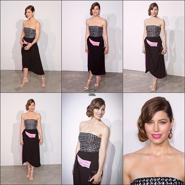 """Le 18/05 : Jessica était présente au défilé pour la collection """"croisière"""" (2014) de Dior, à Monaco"""