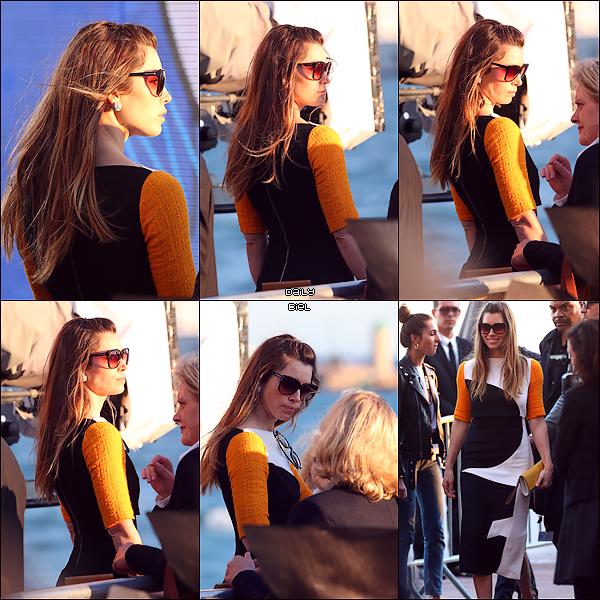 """Le 20/05 : Jessica et Justin on été aperçu quittant l'émission """"Le Grand Journal"""" à Cannes"""