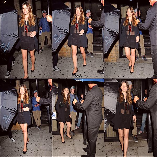 """Le 26/08 : Jessica a été aperçue avec Justin quittant le restaurant """"SoHo House"""" à New York"""
