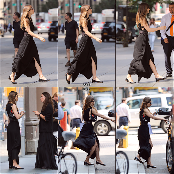 Le 29/08 : Jessica a été aperçue arrivant & quittant une boutique Dior dans le quartier The Upper West Side à New York