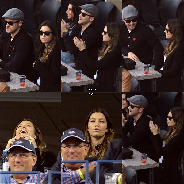 Le 09/09 : Jessica a été aperçue avec Justin à l'US Open 2013