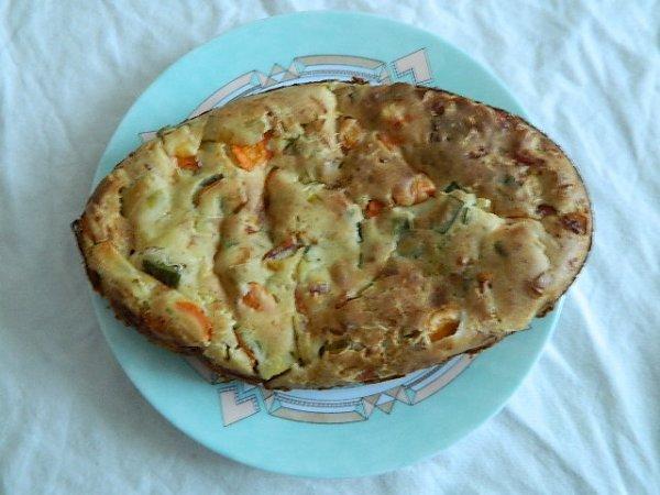 Tourte poireaux-carottes