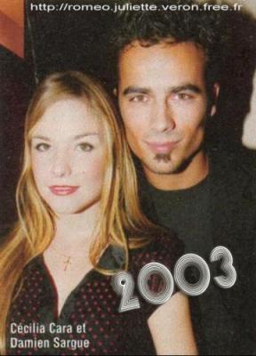 Cécilia Cara & Damien Sargue en 2003