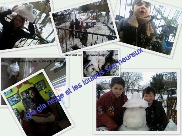 moment de neige