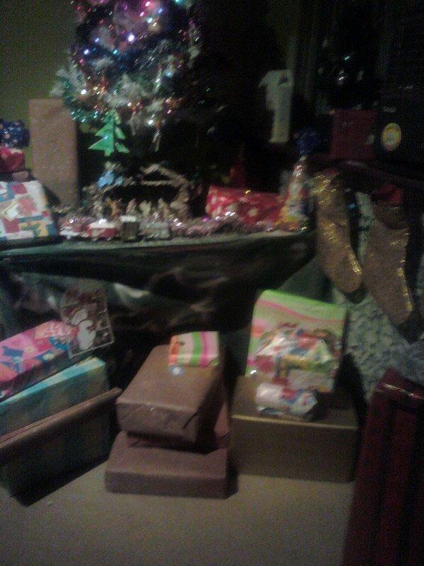 mon sapin et les cadeau