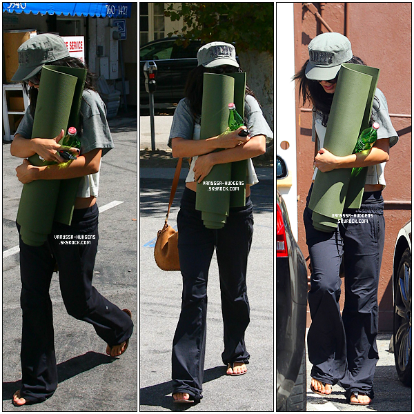 . ---- 01/09/2010 : Vanessa sortant de son cours de Yoga à Studio City.  -  .