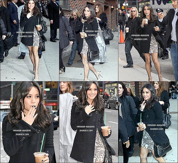 . 2 mars 2011__La promo' commence, V. s'est rendue au « Late Show With David Letterman ». 2 mars 2011__Vanessa quittant les studios de l'émission, « Late Show With David Letterman ». 2 mars 2011__Toujours à New York, notre jolie Vanessa a été aperçue,  quittant une boutique. 2 mars 2011__V. et Gaelan Connell, co-star de Bandslam, étaient au Madison Square Garden. .