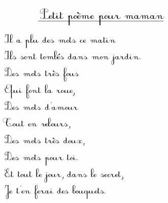 Poéme Pour Ma Maman Moi Ma Famille Et Mes Amies