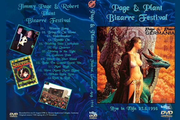 Jimmy Page & Robert Plant Bizarre Festival 1998