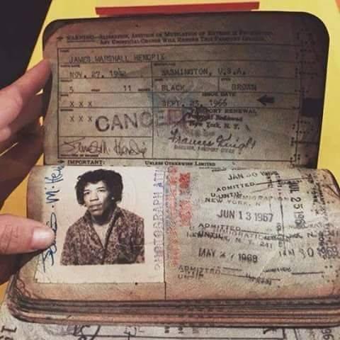 Jimi's passport.