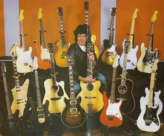 The late great Gary Moore and guitar collection...