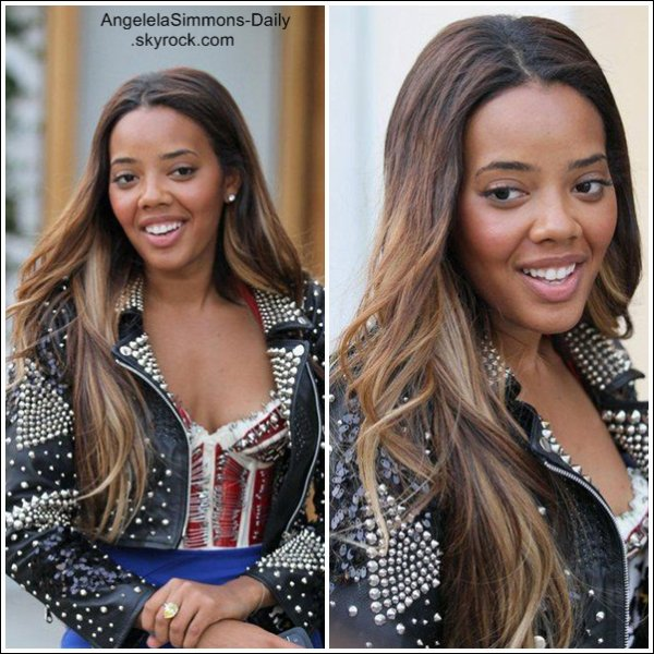 Angela in beverly Hills (Photos) & (Video) ... Angela Posted some photos twitter ... Photo & Video Of the week .