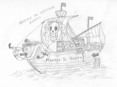 Bateau pirate de noffy dessins en vrac - Bateau de pirate dessin ...