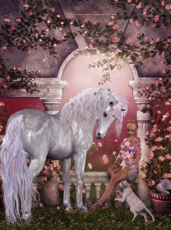 .chevaux ailées et licornes