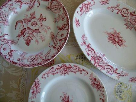 vaisselle ancienne de luxe et objets