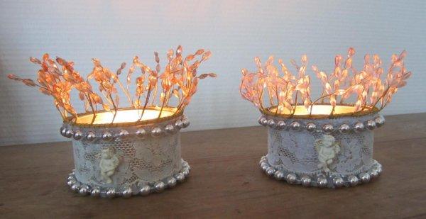 bougies et coeurs