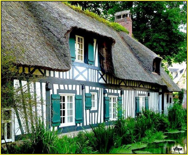 jolies maisons et chaumiéres