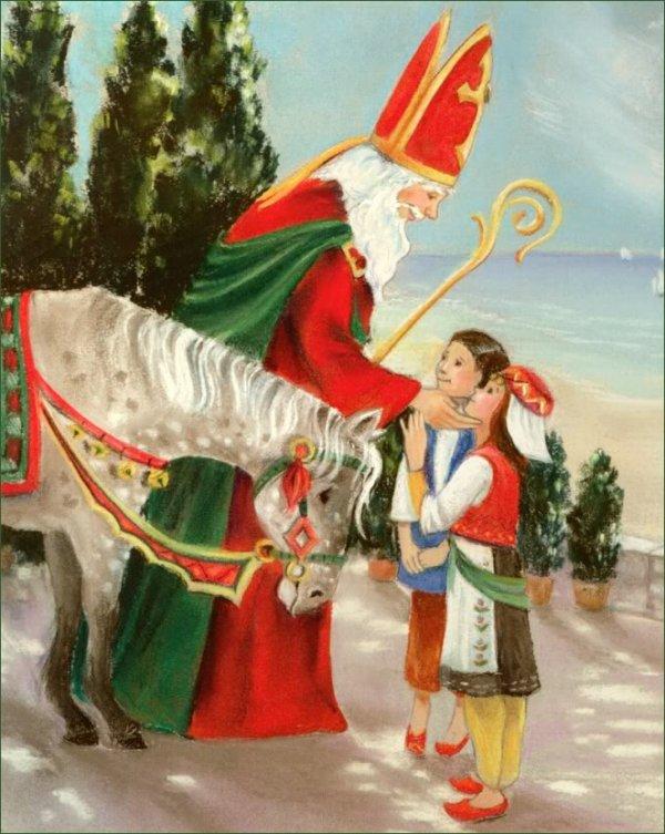 c'est a grand pas qu arrive le saint Nicolas