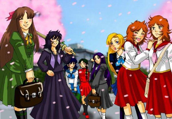 June, Marine, Seika, Miho, Shunrei, Pandore,